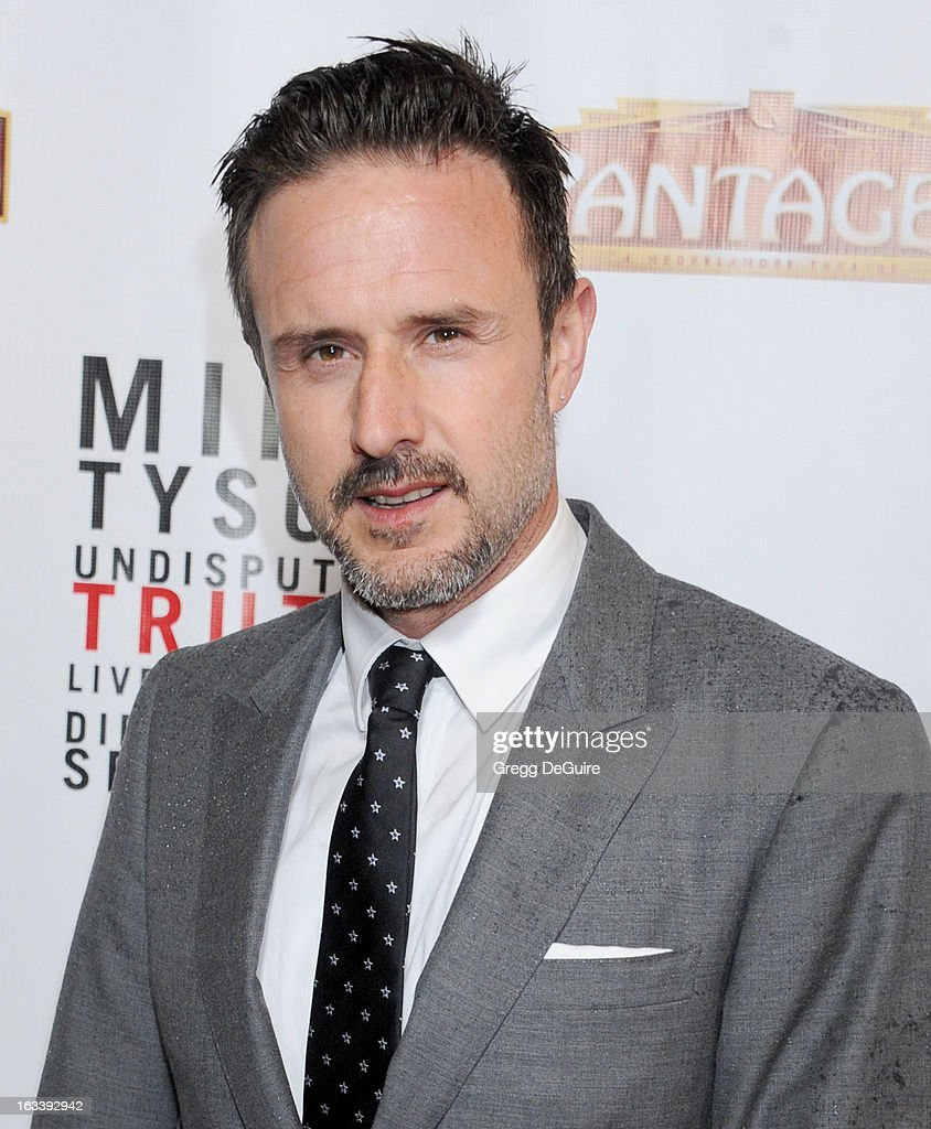Actor David Arquette arrives at the Los Angeles opening night of 'Mike Tyson - Undisputed Truth' at the Pantages Theatre on March 8, 2013 in Hollywood, California.