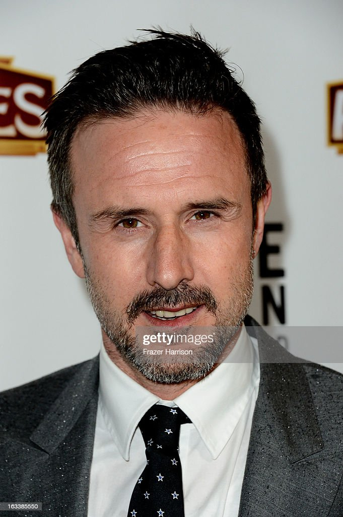 Actor David Arquette arrives at the opening Night Of 'Mike Tyson: Undisputed Truth' At The Pantages Theatre at the Pantages Theatre on March 8, 2013 in Hollywood, California.