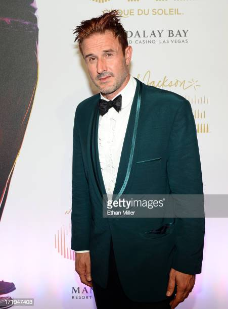 Actor David Arquette arrives at the world premiere of 'Michael Jackson ONE by Cirque du Soleil' at THEhotel at Mandalay Bay on June 29 2013 in Las...
