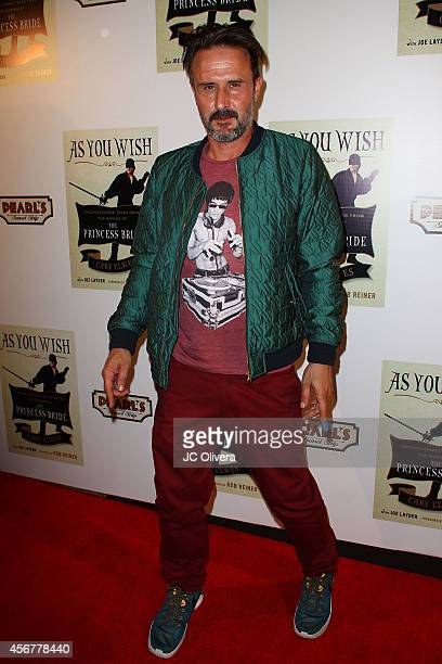 Actor David Arquette attends 'As You Wish Inconceivable Tales From The Making Of The Princess Bride' Cary Elwes latest memoir on October 6 2014 in...