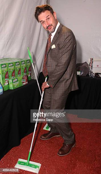Actor David Arquette attends Backstage Creations Treat Suite at Fox's 'Cause For Paws An AllStar Dog Special' at Barker Hangar on November 22 2014 in...