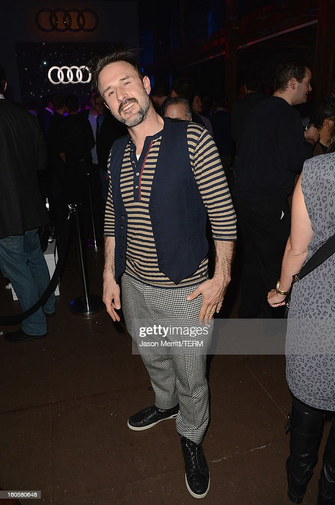 Actor <a gi-track='captionPersonalityLinkClicked' href=/galleries/search?phrase=David+Arquette&family=editorial&specificpeople=201740 ng-click='$event.stopPropagation()'>David Arquette</a> attends the Audi Forum New Orleans at the Ogden Museum of Southern Art on February 2, 2013 in New Orleans, Louisiana.