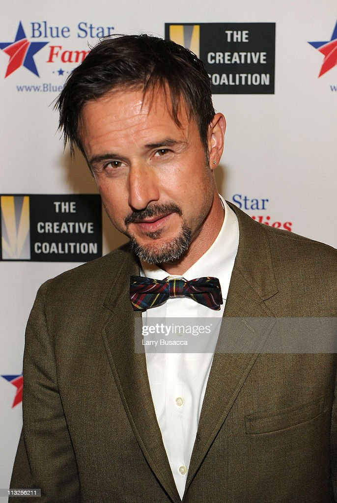 Actor David Arquette attends the Creative Coalition and Blue Star Families PSA premiere gala at American Red Cross on April 28, 2011 in Washington, DC.