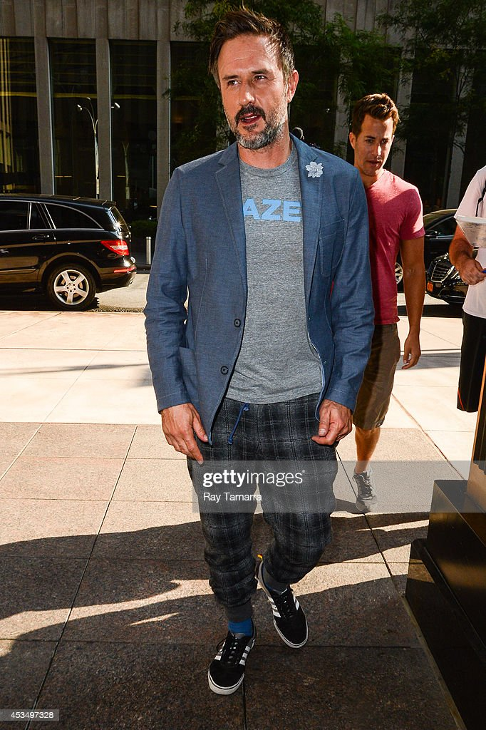 Actor David Arquette enters the Sirius XM Studios on August 11 2014 in New York City