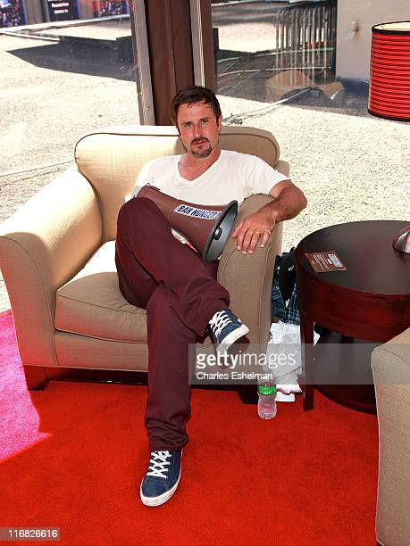 Actor David Arquette launches the Snickers 'Bar Hunger' Campaign atop Madison Square Garden on July 14 2009 in New York City