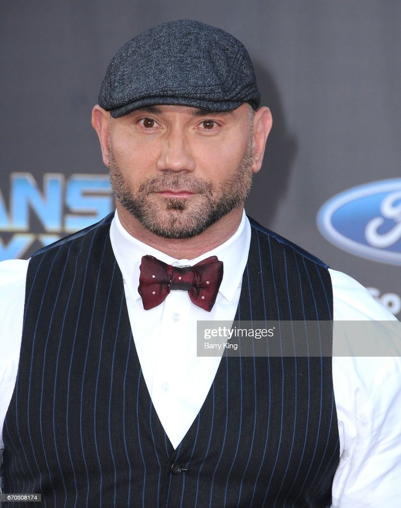 Actor David Bautista attends world premiere of Disney and Marvel's' 'Guardians Of The Galaxy 2' at Dolby Theatre on April 19, 2017 in Hollywood, California.