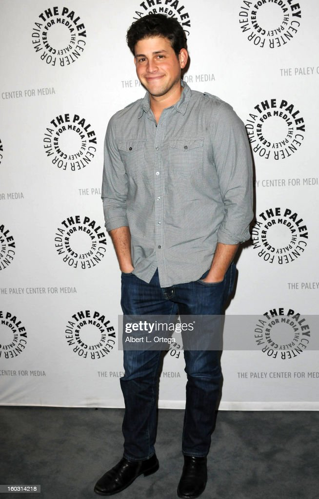 Actor David Blue arrives for The Paley Center for Media & Warner Bros. Home Entertainment Premiere of 'Batman: The Dark Knight Returns, Part 2' held at The Paley Center for Media on January 28, 2013 in Beverly Hills, California.