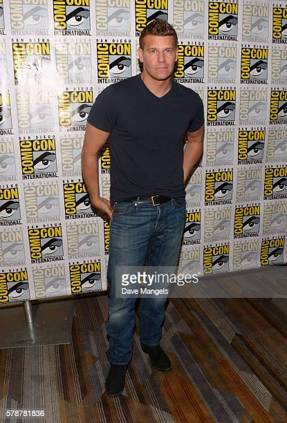 Actor David Boreanaz attends ComicCon International 2016 'Bones' press line at Hilton Bayfront on July 22 2016 in San Diego California