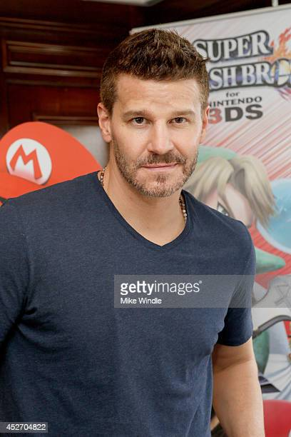 Actor David Boreanaz attends the Nintendo Lounge on the TV Guide Magazine Yacht at ComicCon #TVGMYacht during ComicCon International 2014 on July 25...