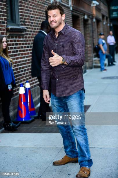 Actor David Boreanaz enters the 'The Late Show With Stephen Colbert' taping at the Ed Sullivan Theater on September 26 2017 in New York City