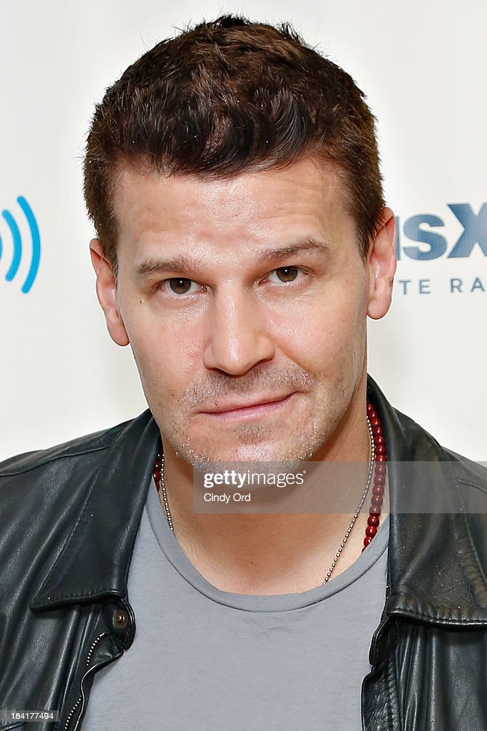 Actor <a gi-track='captionPersonalityLinkClicked' href=/galleries/search?phrase=David+Boreanaz&family=editorial&specificpeople=214055 ng-click='$event.stopPropagation()'>David Boreanaz</a> visits the SiriusXM Studios on October 11, 2013 in New York City.