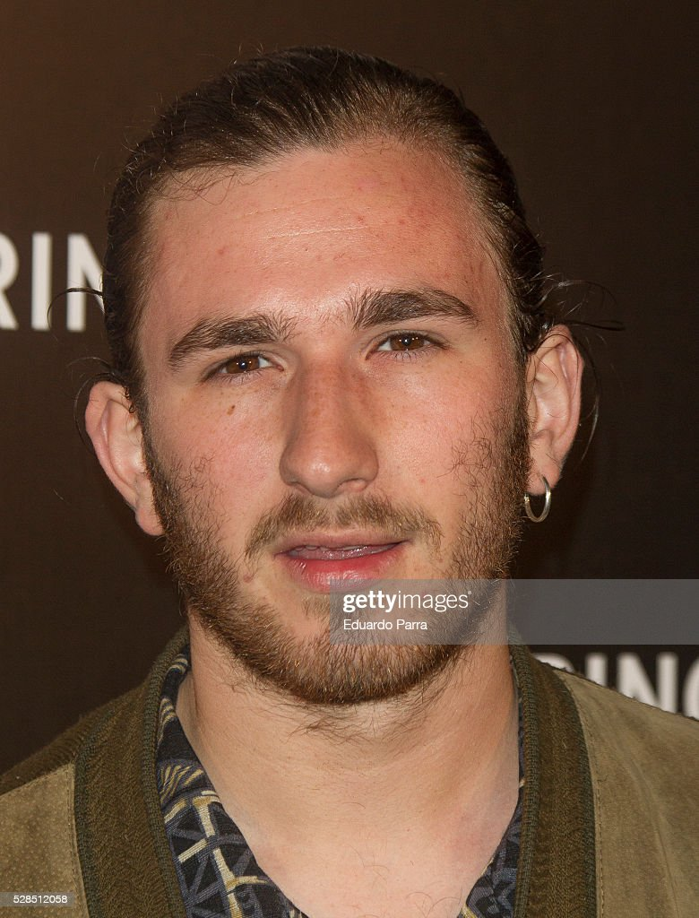 Actor David Castillo attends the Springfield fashion film presentation photocall at Fortuny palace on May 05, 2016 in Madrid, Spain.