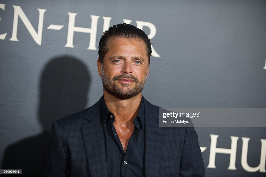 Actor David Charvet arrives at the premiere of Paramount Pictures' 'BenHur' at TCL Chinese Theatre IMAX on August 16 2016 in Hollywood California