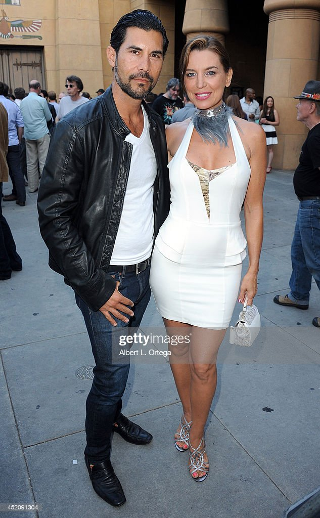 Actor David De Santos and actress <a gi-track='captionPersonalityLinkClicked' href=/galleries/search?phrase=Sandra+Vidal&family=editorial&specificpeople=236019 ng-click='$event.stopPropagation()'>Sandra Vidal</a> at the 2014 Etheria Film Night held at American Cinematheque's Egyptian Theatre on July 12, 2014 in Hollywood, California.