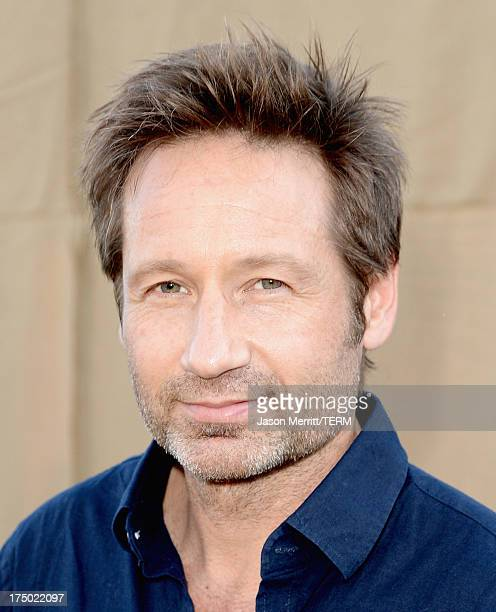 Actor David Duchovny arrives at the CW CBS and Showtime 2013 summer TCA party on July 29 2013 in Los Angeles California