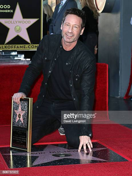 Actor David Duchovny attends his being honored with a Star on the Hollywood Walk of Fame on January 25 2016 in Hollywood California