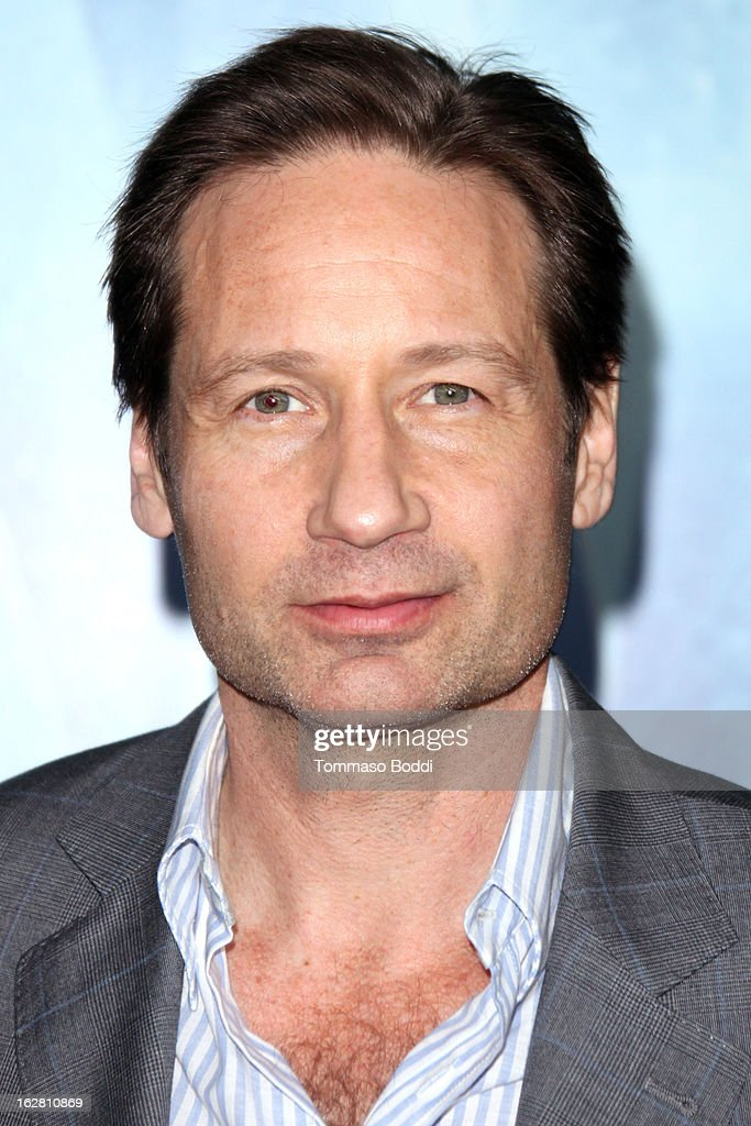 Actor David Duchovny attends the 'Phantom' Los Angeles premiere held at the TCL Chinese Theatre on February 27, 2013 in Hollywood, California.
