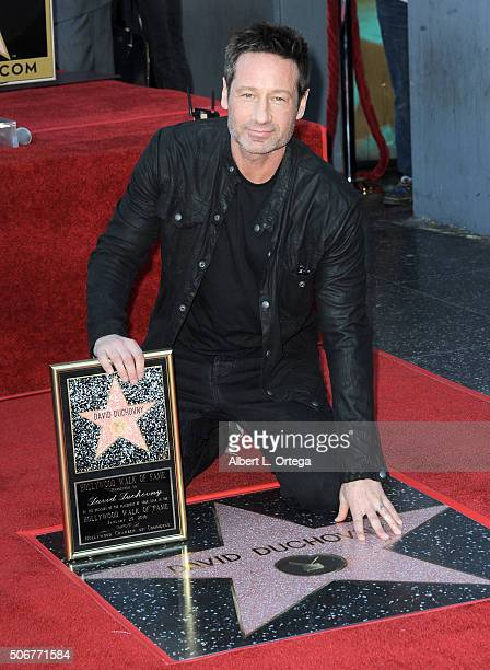 Actor David Duchovny honored with star on the Hollywood Walk of Fame held on January 25 2016 in Hollywood California