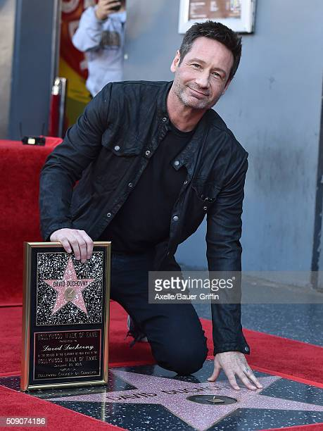 Actor David Duchovny is honored with a star on the Hollywood Walk of Fame on January 25 2016 in Hollywood California