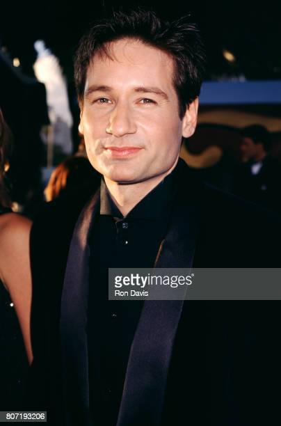 Actor David Duchovny poses for a portrait as he attends the Second Annual Screen Actors Guild Awards on February 24 1996 at the Santa Monica Civic...