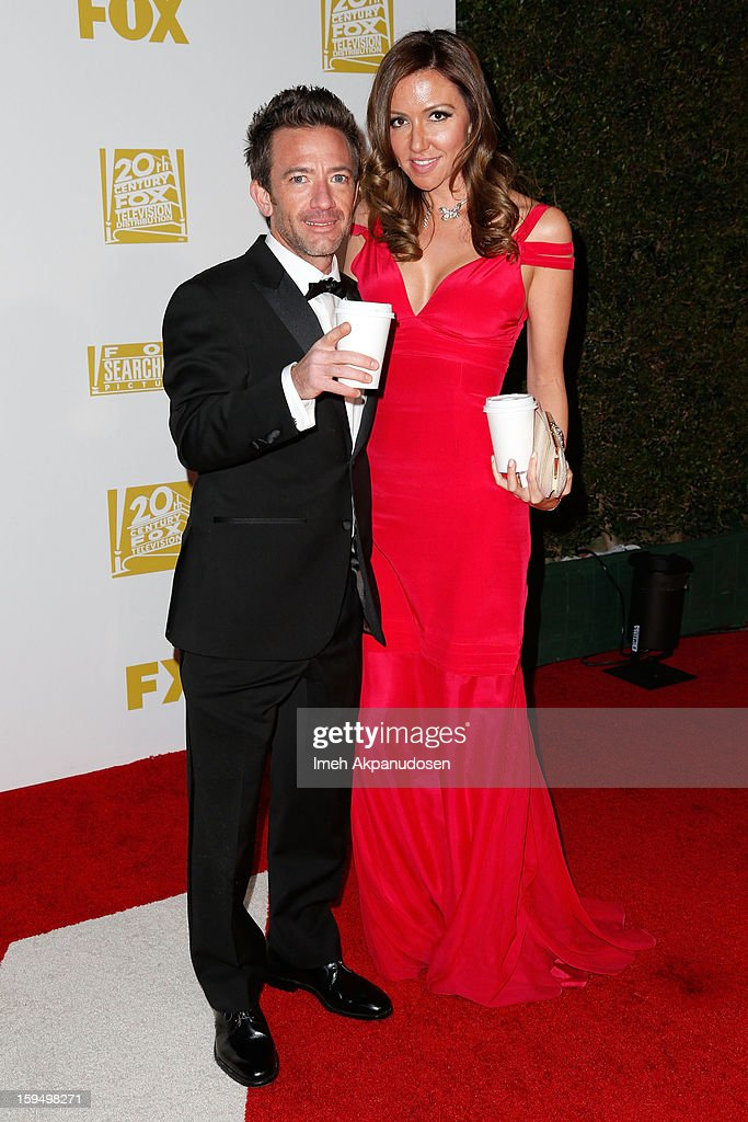 Actor <a gi-track='captionPersonalityLinkClicked' href=/galleries/search?phrase=David+Faustino&family=editorial&specificpeople=226901 ng-click='$event.stopPropagation()'>David Faustino</a> (L) and guest attend the Fox Searchlight 2013 Golden Globe Awards Party on January 13, 2013 in Beverly Hills, California.