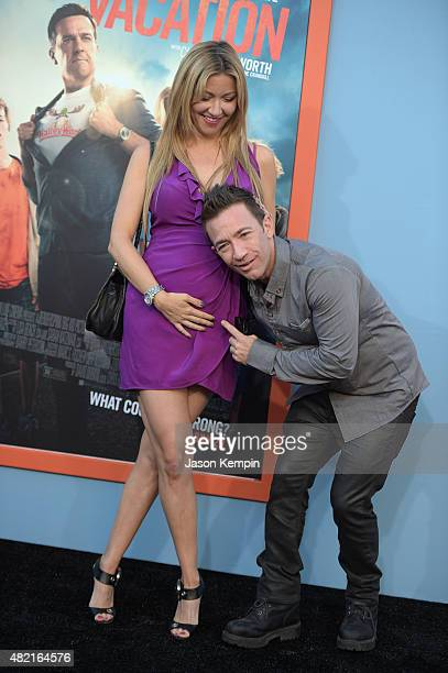 Actor David Faustino and Lindsay Bronson attend the premiere of Warner Bros 'Vacation' at Regency Village Theatre on July 27 2015 in Westwood...