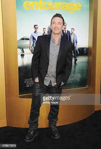 Actor David Faustino arrives at the 'Entourage' Los Angeles premiere at Regency Village Theatre on June 1 2015 in Westwood California