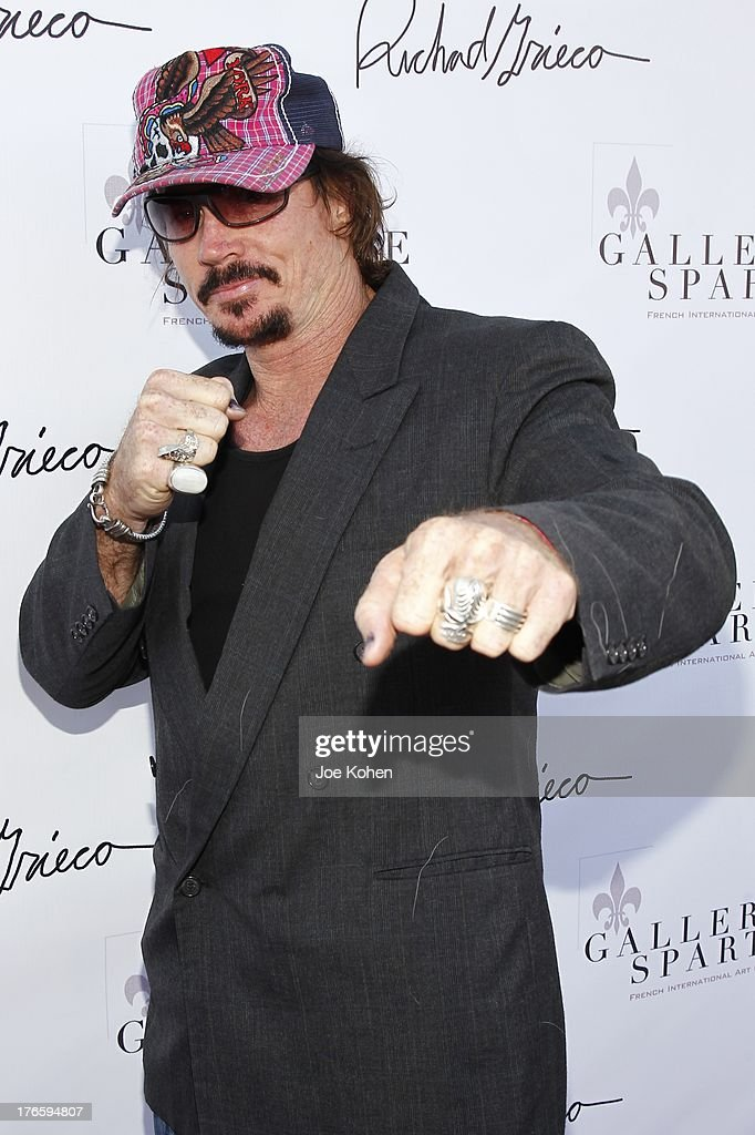 Actor David Fralick attends Richard Grieco's opening night gala for his one-man art exhibit 'Sanctum Of A Dreamer!' at Gallerie Sparta on August 15, 2013 in West Hollywood, California.