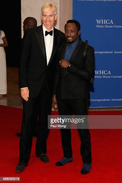Actor David Gregory and Rapper Will i Am attends the 100th Annual White House Correspondents' Association Dinner at the Washington Hilton on May 3...