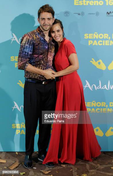 Actor David Guapo and actress Megan Montaner attend the 'Senor dame paciencia' premiere at Fortuny Palace on June 15 2017 in Madrid Spain