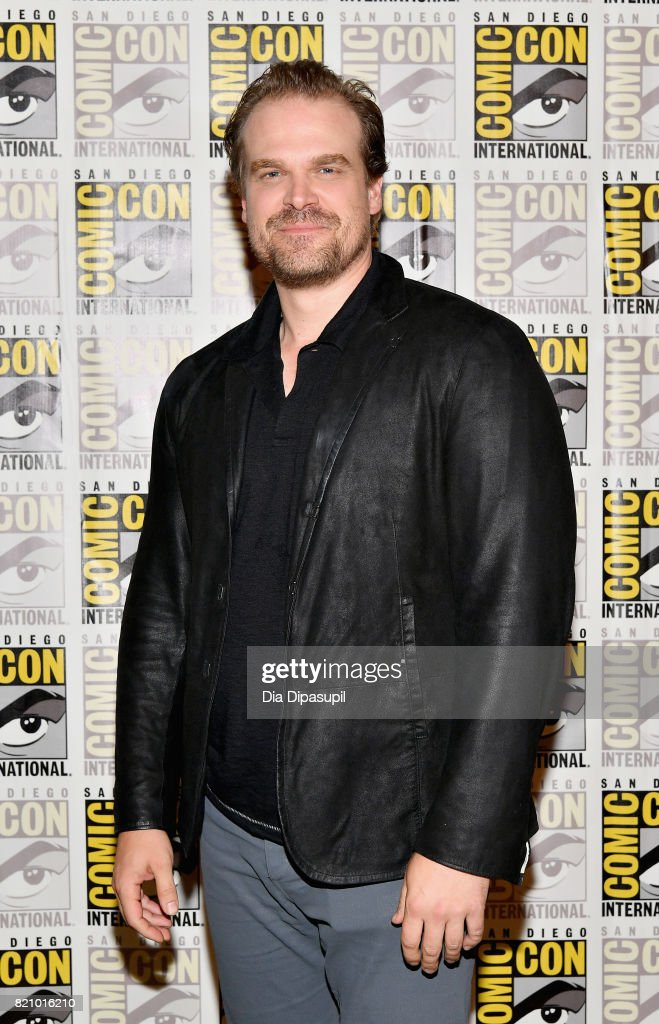 Actor David Harbour at Netflix's 'Stranger Things' Press line during Comic-Con International 2017 at Hilton Bayfront on July 22, 2017 in San Diego, California.