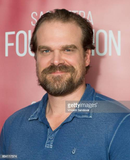 Actor David Harbour attends SAGAFTRA Foundation Conversations with 'Stranger Things' at SAGAFTRA Foundation Screening Room on August 17 2017 in Los...