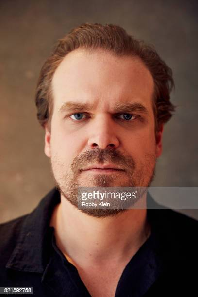 Actor David Harbour from Netflix's 'Stranger Things' poses for a portrait during ComicCon 2017 at Hard Rock Hotel San Diego on July 22 2017 in San...