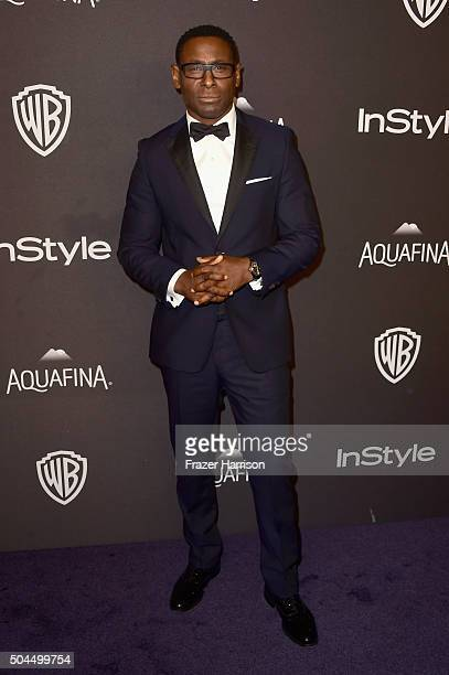 Actor David Harewood attends InStyle and Warner Bros 73rd Annual Golden Globe Awards PostParty at The Beverly Hilton Hotel on January 10 2016 in...