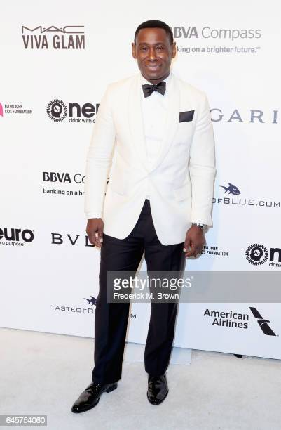 Actor David Harewood attends the 25th Annual Elton John AIDS Foundation's Academy Awards Viewing Party at The City of West Hollywood Park on February...