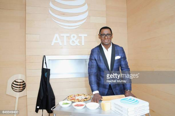 Actor David Harewood poses at ATT's Jon Vinny's popup pizza bar at the 2017 Film Independent Spirit Awards sponsored by ATT at Santa Monica Pier on...