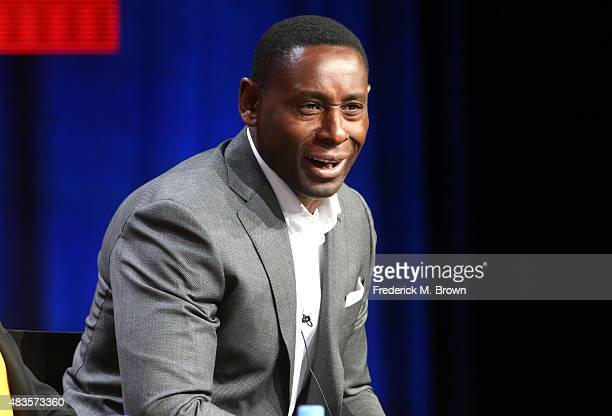 Actor David Harewood speaks onstage during the 'Supergirl' panel discussion at the CBS portion of the 2015 Summer TCA Tour at The Beverly Hilton...