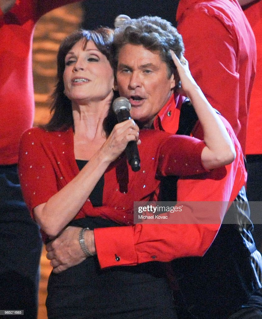 Actor David Hasselhoff and actress Marilu Henner perform at the 8th Annual TV Land Awards at Sony Pictures Studios on April 17 2010 in Culver City...