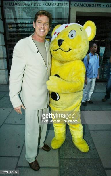 US actor David Hasselhoff arrives for the opening night of Bat Boy The Musical in support of Children In Need at the Shaftesbury Theatre on...