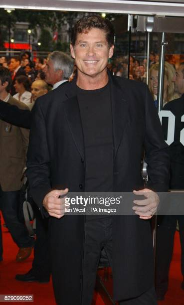Actor David Hasselhoff arrives for the UK gala premiere of SpiderMan 2 at the Odeon Leicester Square in central London