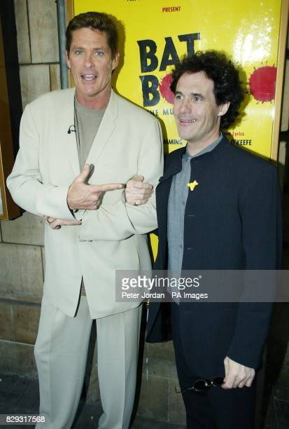US actor David Hasselhoff arriving for the opening night of Bat Boy The Musical in support of Children In Need at the Shaftesbury Theatre on...