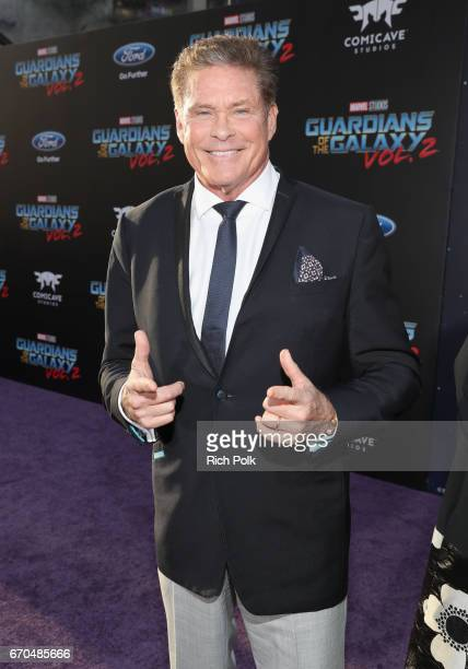 "Actor David Hasselhoff at The World Premiere of Marvel Studios' ""Guardians of the Galaxy Vol 2"" at Dolby Theatre in Hollywood CA April 19th 2017"