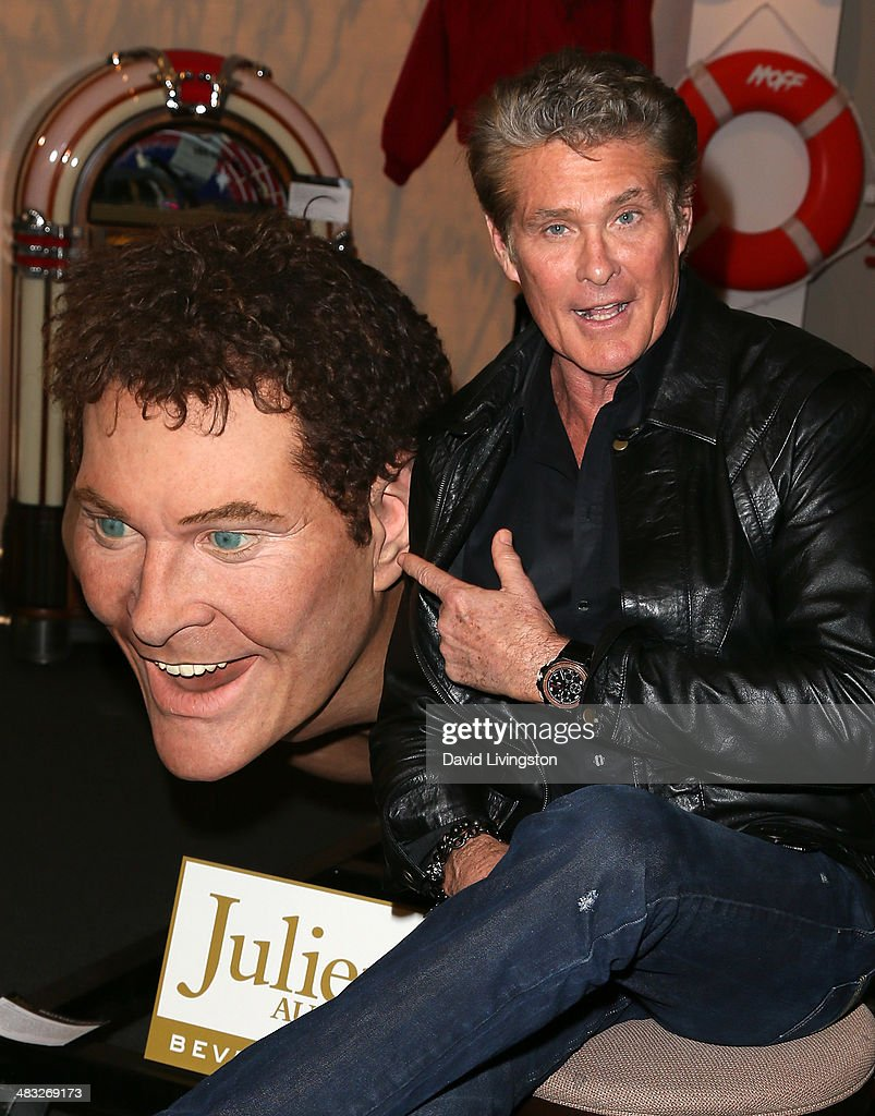 Actor David Hasselhoff attends Julien's Auctions Hollywood Legends 2014 Press Preview Day at Julien's Auctions Gallery on April 7, 2014 in Beverly Hills, California.