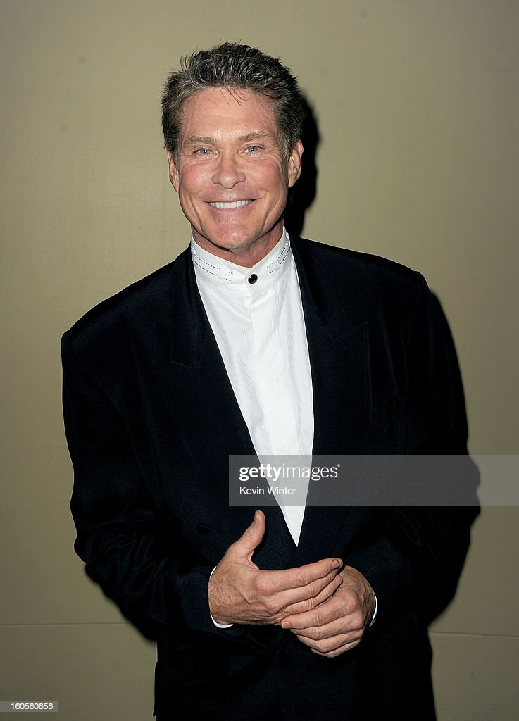 Actor David Hasselhoff attends the 65th Annual Directors Guild Of America Awards at Ray Dolby Ballroom at Hollywood & Highland on February 2, 2013 in Los Angeles, California.