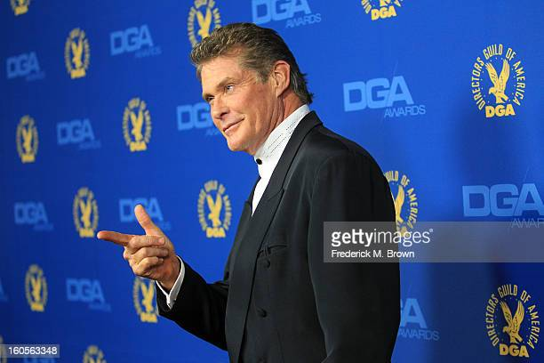 Actor David Hasselhoff attends the 65th Annual Directors Guild Of America Awards at Ray Dolby Ballroom at Hollywood Highland on February 2 2013 in...