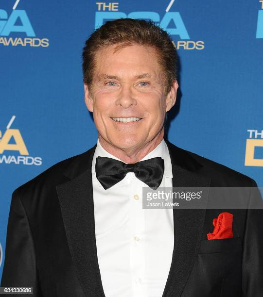 Actor David Hasselhoff attends the 69th annual Directors Guild of America Awards at The Beverly Hilton Hotel on February 4 2017 in Beverly Hills...