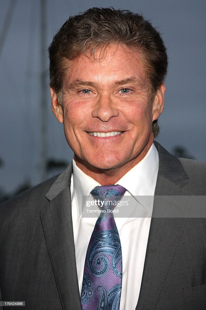 Actor <a gi-track='captionPersonalityLinkClicked' href=/galleries/search?phrase=David+Hasselhoff&family=editorial&specificpeople=209380 ng-click='$event.stopPropagation()'>David Hasselhoff</a> attends the 'Chasing The Hill' reception held at the Pacific Mariners Yacht Club on June 12, 2013 in Marina del Rey, California.