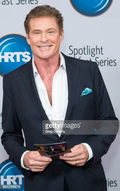 Actor David Hasselhoff attends The Hollywood Radio And Television Society Presents The Newsmaker Luncheon Series A Moment In Time Must See TV at the...