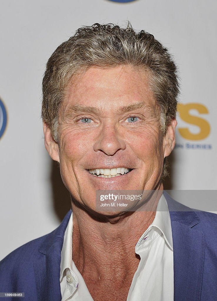 Actor <a gi-track='captionPersonalityLinkClicked' href=/galleries/search?phrase=David+Hasselhoff&family=editorial&specificpeople=209380 ng-click='$event.stopPropagation()'>David Hasselhoff</a> attends the Hollywood Radio & Television Society Newsmaker Luncheon Series at The Beverly Hilton Hotel on January 23, 2013 in Beverly Hills, California.