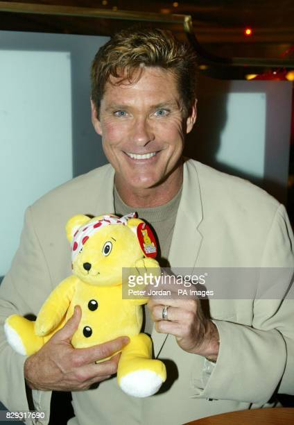 US actor David Hasselhoff during the preshow party for Bat Boy the Musical in support of Children In Need at SWAY Great Queen Street central London...